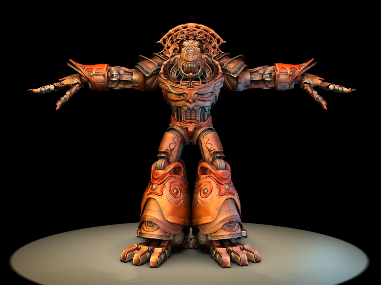 A 3D model done in ZBrush in 2008